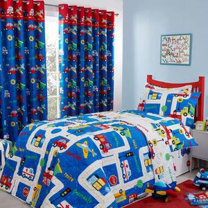 Street Map Bedspread 200 x 220cm - Blue