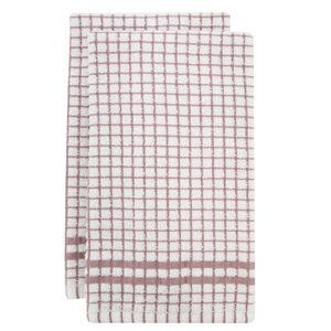 Mono Check Blush Tea Towels 2 Pack