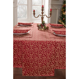 Versailles Table Runner Red/Gold 229 x 40cm