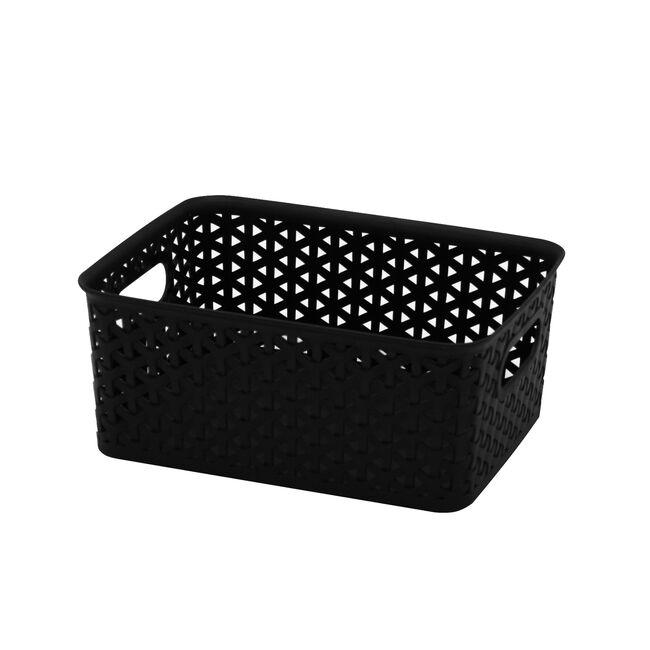 Geometric 4L Black Basket
