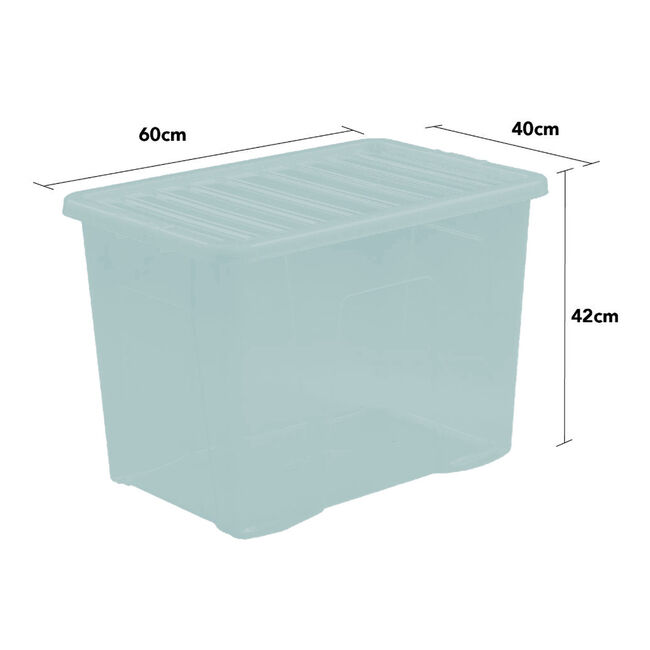 Crystal Box & Lid 80L - Duck Egg Blue