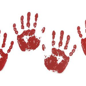 Bloody Handprint 6Pk