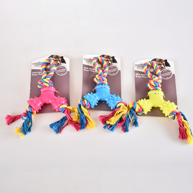 TPR Multicolour Rope Tug Toy
