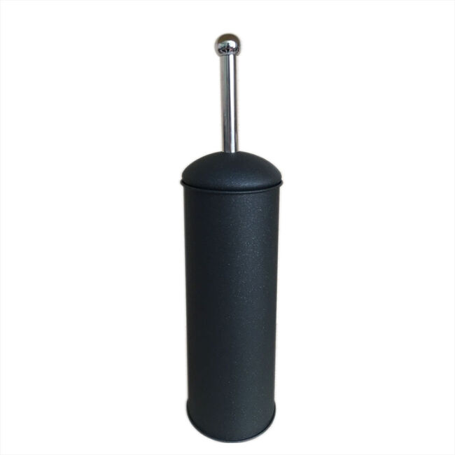 Black Sparkle Dome Lid Toilet Brush and Holder