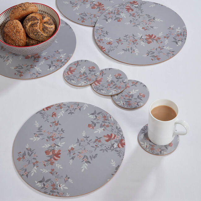 Lace Floral Round Mats & Coasters 4 Pack
