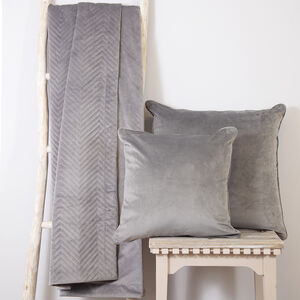 Triangle Stitch Throw 150x200cm - Grey
