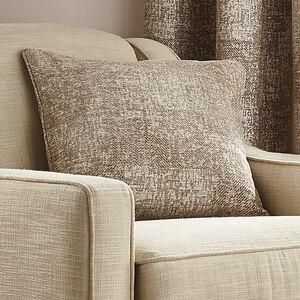Patchwork Cushion 45x45cm - Coffee
