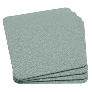 LEATHER Duck Egg PK4 Coasters