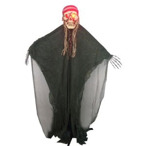 Standing Light Up Ghost With Red Bandana 5ft