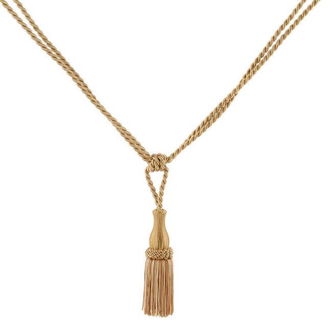 Elegance Small Rope Gold Tieback