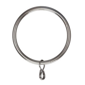 Metal Rings Brushed Nickel 50mm 10pk