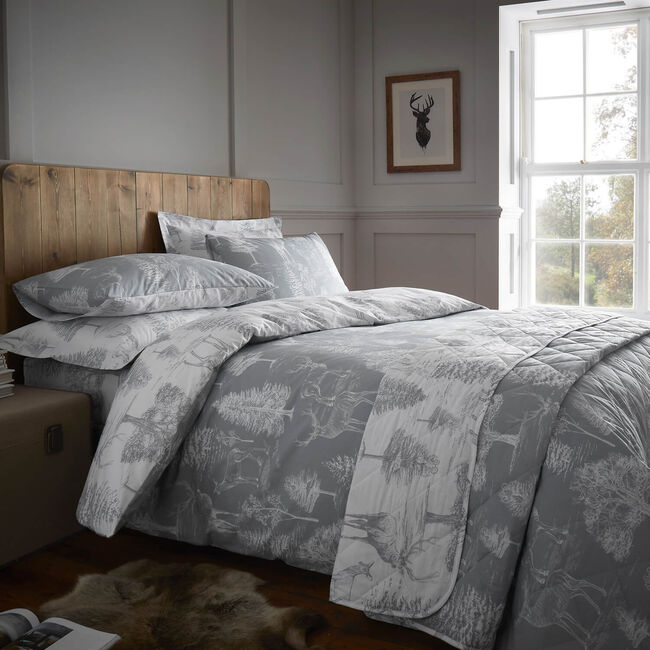 SINGLE DUVET COVER Stag Toile