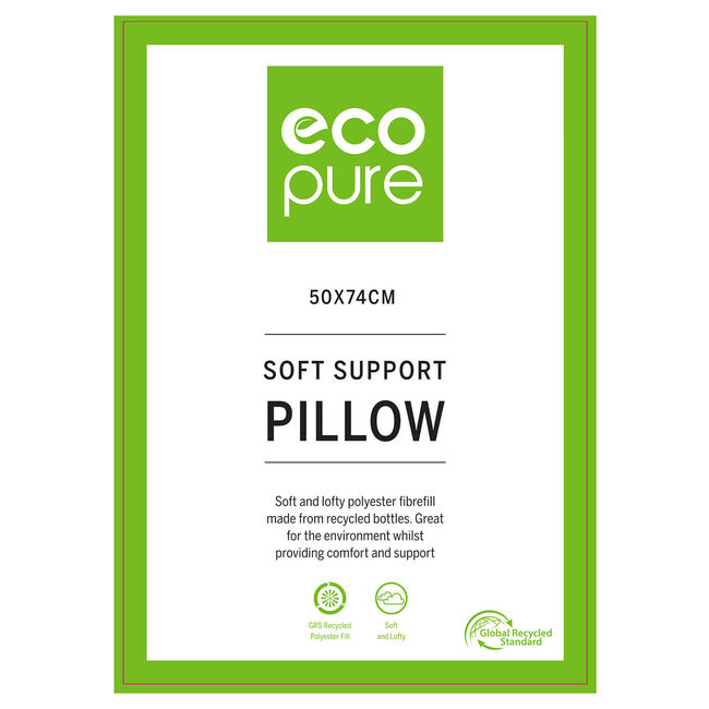 EcoPure Soft Support Pillow 50 x 74cm