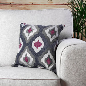 Maired Berry Grey Cushion 45cm x 45cm