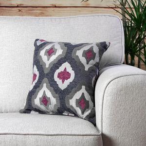 Maired Berry Grey Cushion 45cm x 45cm