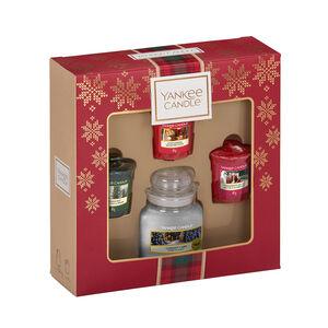 Yankee Christmas 3 Votives & Small Jar Gift Set