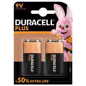 Duracell Plus 9V Batteries 2 Pack