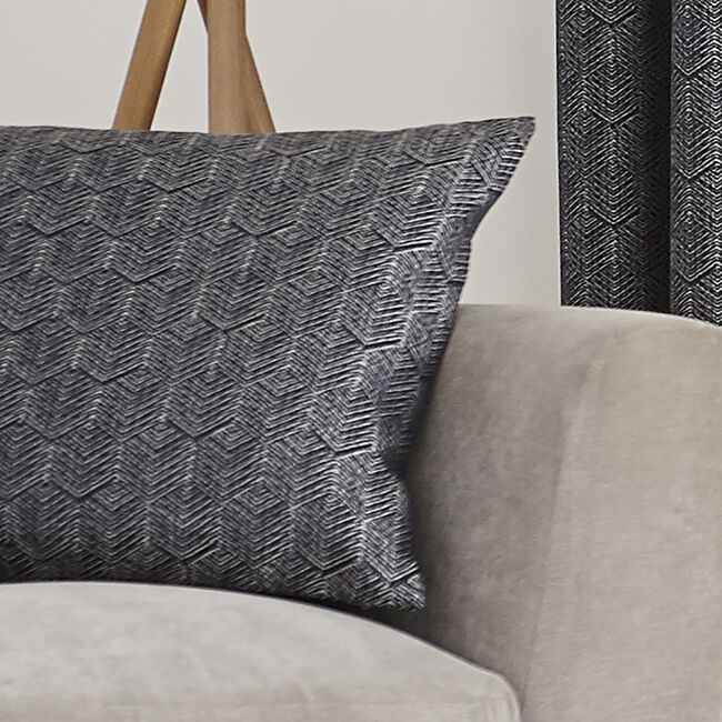 Armadillo Scale Cushion 45x45cm - Navy