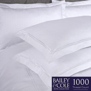 Double Stitch 1000TC Oxford Pillowcase Pair -White