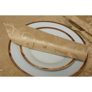 Scroll Gold Napkins 4 Pack