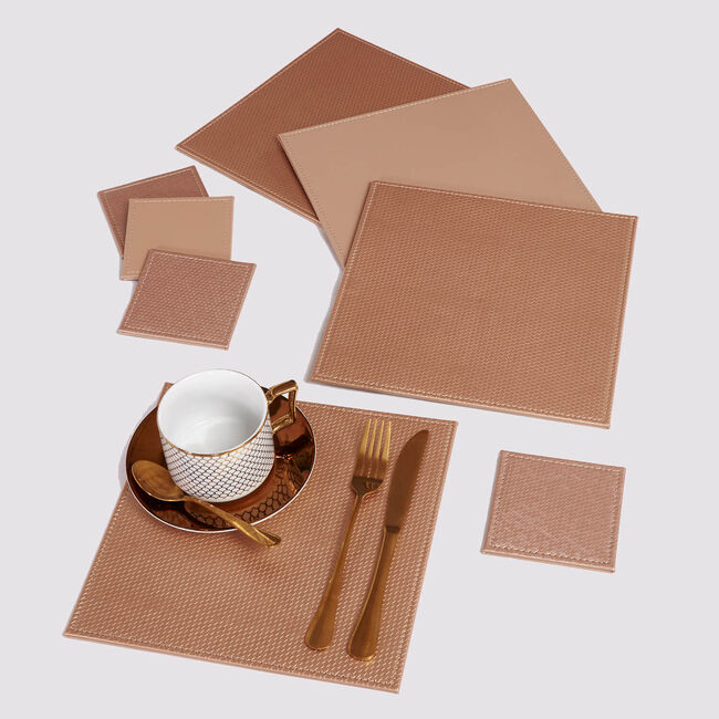 Honeycomb Square Placemats - Gold