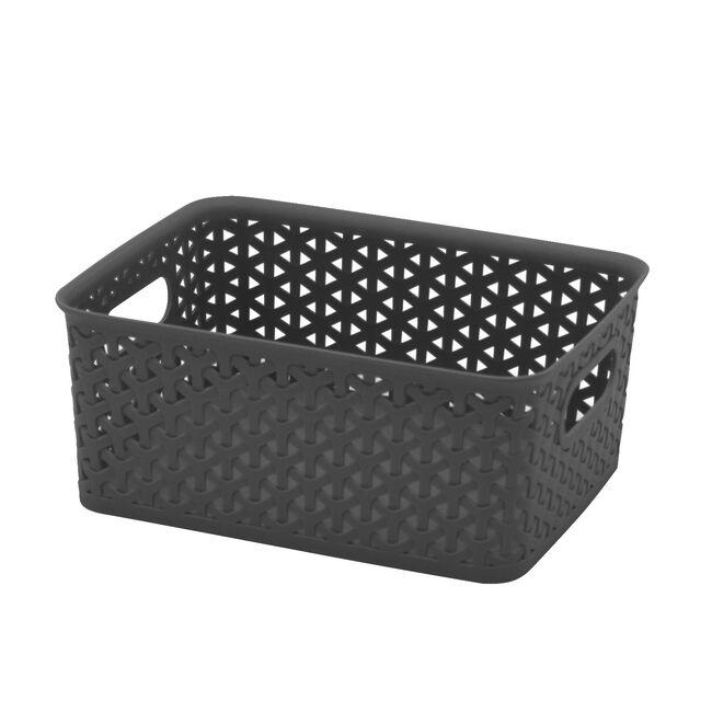 Geometric 4L Grey Basket