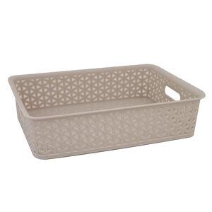 Geometric 6.5L Soft Grey Basket