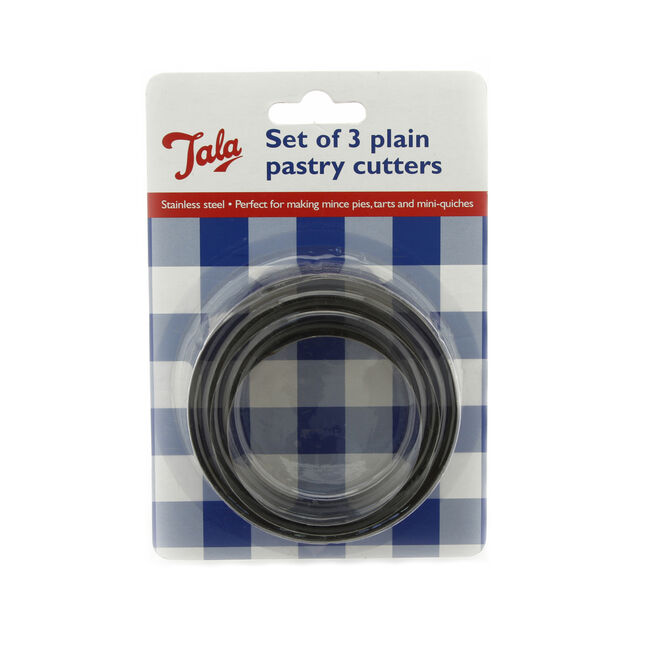 Tala Smooth Edged Pastry Cutters