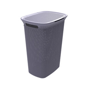 EZY Mode Lilac Laundry Hamper 57L