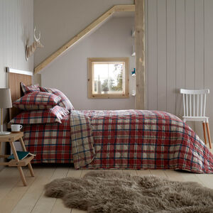 Brushed Cotton Fogarty Check Bedspread