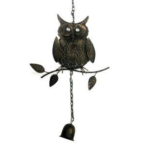 Rustic Owl Decorative Garden Windchime