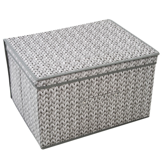 Knit Foldable Storage Chest - Grey