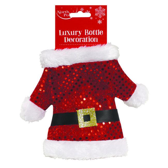 Santa Suit Bottle Cover