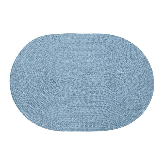 Oval Woven Placemat - Duck Egg