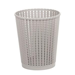 Knit Charcoal Round Storage Basket