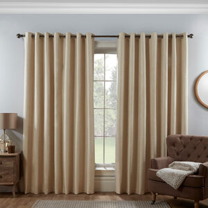 Blackout & Thermal Basketweave Curtains - Natural