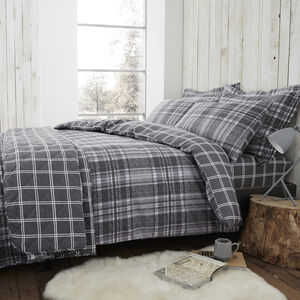 Brushed Cotton Boothman Check Duvet Cover