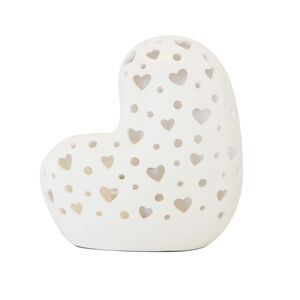 Hearts Silhouette Ceramic Table Lamp