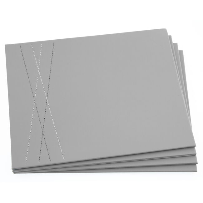 Reversible Leather Placemats Duck Egg & Grey 4PK