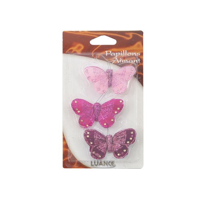 Butterflies Fushia Curtain Magnet