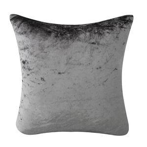 Velvet Crush Silver Cushion Cover 2Pk 45cm x 45cm