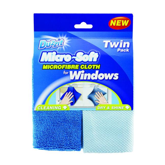 Duzzit Micro-Soft Window Cloth 2pk
