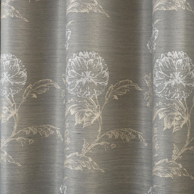 TEXTURED FLORAL DUCK EGG 66x54 Curtain