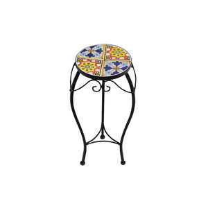 Small Mosaic Tile Plant Stand
