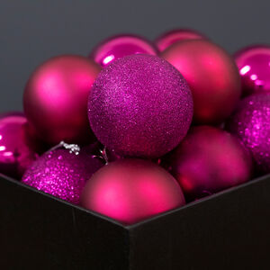 Purple Bauble Set - 20 Pack