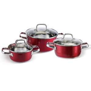 Cucino Rosso 3 Piece Cookware Set