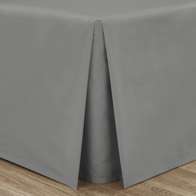 SINGLE PLATFORM VALANCE Luxury Percale Grey