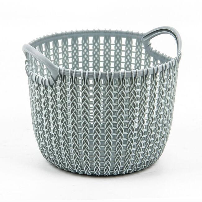 Knit Mint 3L Round Storage Basket