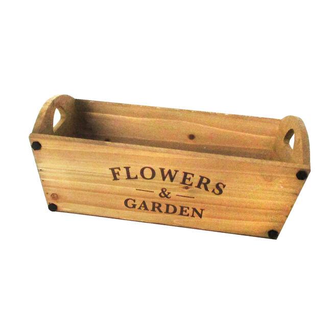 Flowers and Garden Wooden Planter