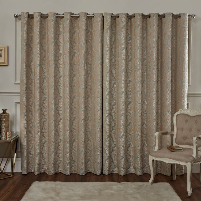 VERSAILLES DAMASK DUCK EGG 66x54 Curtain